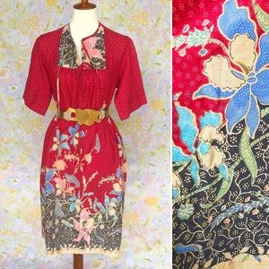 True Vintage🌷70s Floral Midi Summer/House Dress!
